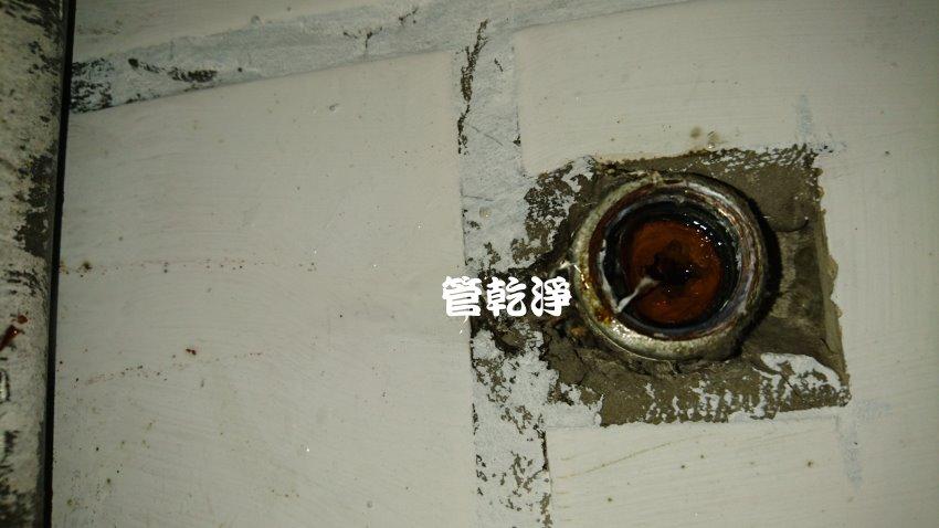 水管內都是棕色結晶? 桃園 蘆竹 富國路 水管清洗