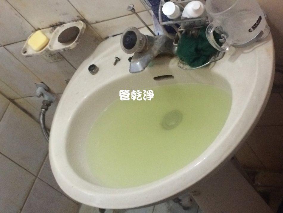 水龍頭噴出綠水? (桃園 八德 東勇街 洗水管 )